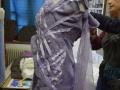 Essayage de la robe - Exposition Les mousselines au fil du temps - Fête des Mousselines 2015