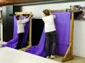 Livraison du tissu à la commission décoration - Janvier 2020
